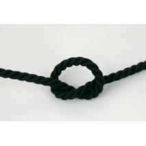 Sznurek bawełniany czarny o średnicy 10mm