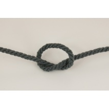 Dark gray 6mm Cotton Cord