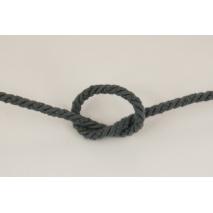 Sznurek bawełniany ciemnoszary o średnicy 6mm