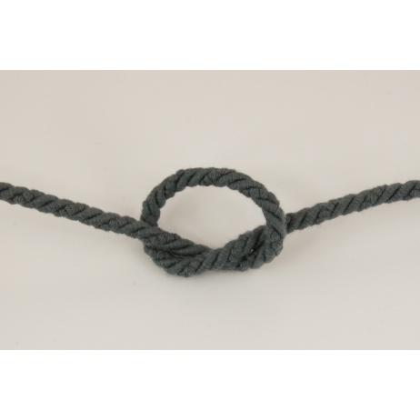 Dark gray 6mm Cotton Cord