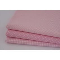 Bawełna 100% różowe drobne paseczki