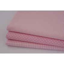 Cotton 100% small pink stripes