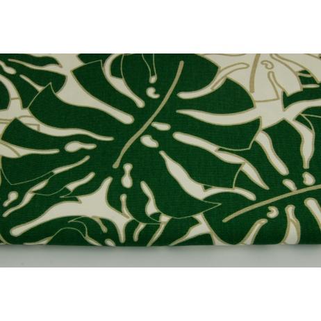 Cotton 100%, Home Decor, large dark green leaves HD