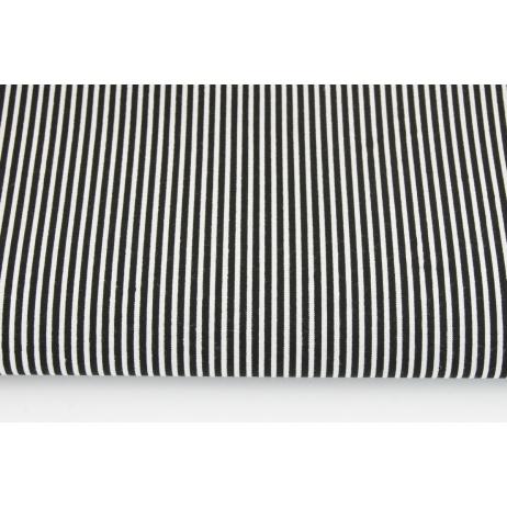 Bawełna 100% czarne paski 2x1mm na białym tle