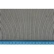 Cotton 100% black stripes 2x1mm on a white background