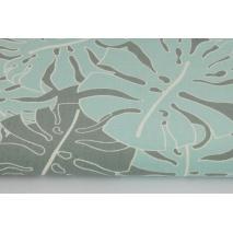 Home Decor, duże liście turkusowo-szare HD