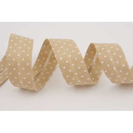 Cotton bias binding beige dotted