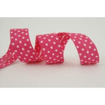 Cotton bias binding fuchsia dotted