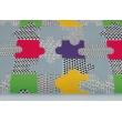 Cotton 100% puzzles green, purple