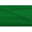 Koronka bawełniana 15mm, ciemna zieleń