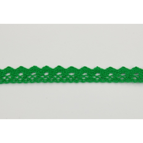 Cotton lace 15mm in a dark green color