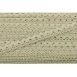 Cotton lace 15mm in a gray-beige color