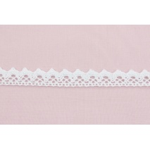 Cotton lace 15mm in a white color