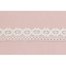 Koronka bawełniana 25mm, biała