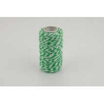 Cotton string white-green 1,5mm x 22,5m