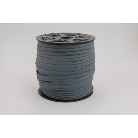 Cotton edging ribbon steel color