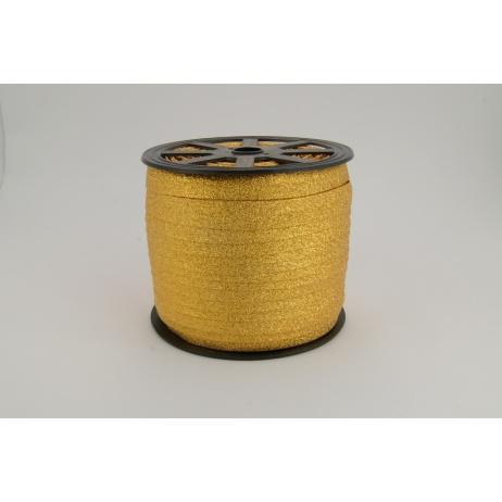 Lamówka ciemne złoto brokat