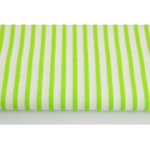 Cotton 100% bright green stripes 5mm/10mm
