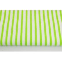 Cotton 100% bright green stripes 5mm/10mm