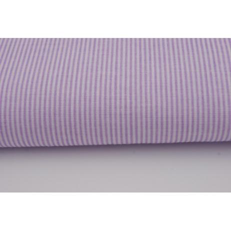 Bawełna 100% drobne fioletowe paseczki