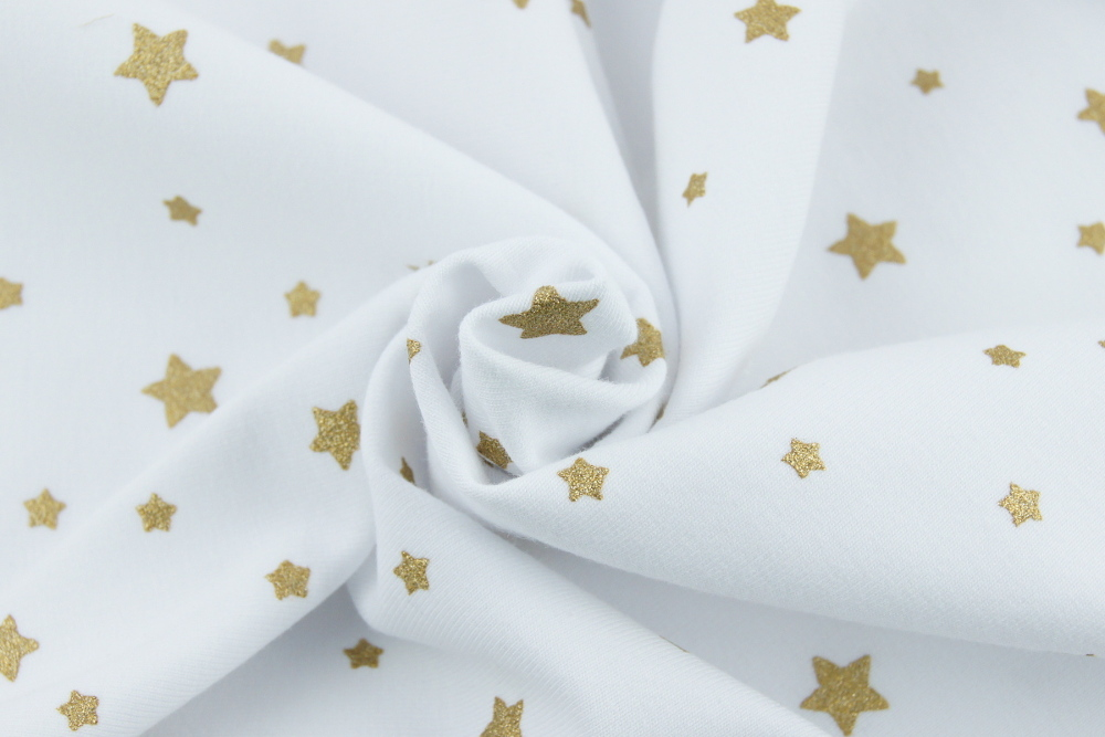 looped knitwear gold stars